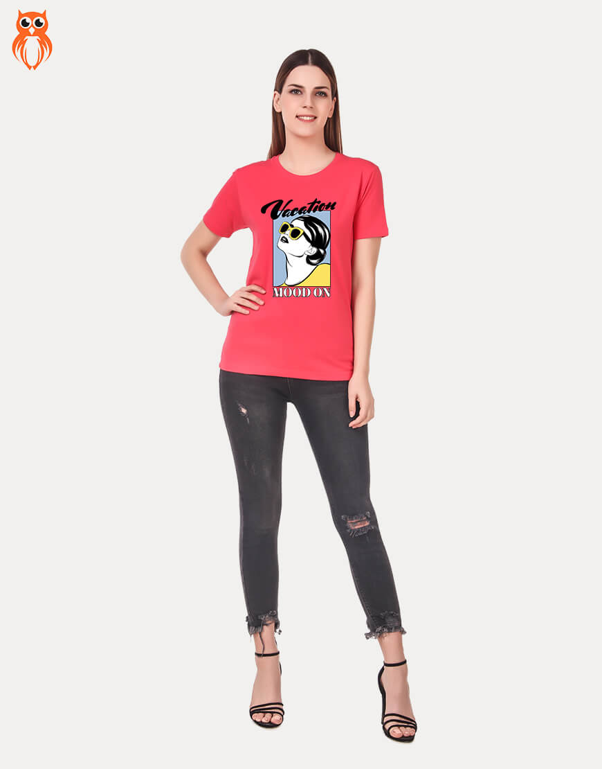 OWL18 Vacation Mood On Women Graphic T-Shirt