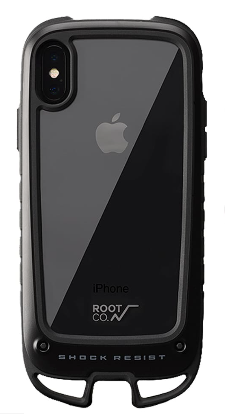 日本 ROOT CO. Shock Resist Case +Hold iPhone iPhone11/Pro/Max Case