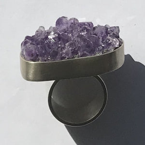 Spectacular Amethyst and Stirling Silver Ring