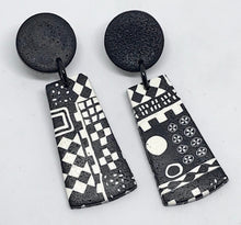 Load image into Gallery viewer, Black Paradise Earrings by Wendy Moore