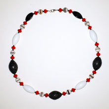 Load image into Gallery viewer, Glass, Agate and Lavastone Neck Piece