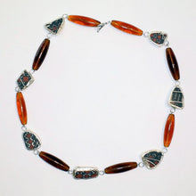 Load image into Gallery viewer, New Mexico Pueblo Ceramic Linked Necklace