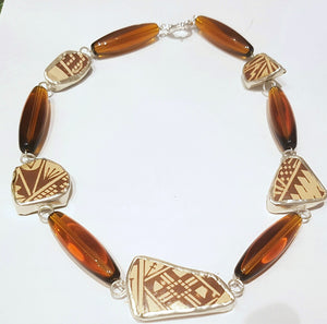 New Mexico Pueblo Ceramic Short Necklace