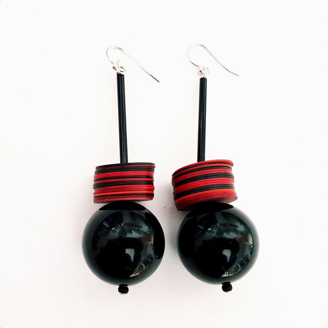 Recycled Plastic Disc Earrings By Christine Smalley