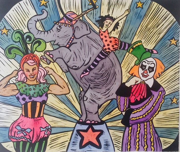 'Circus' - Traditional Artist's Hand Pulled Print by Mellissa Read-Devine
