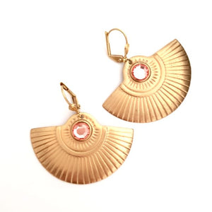 Femme Earring Deco Fan Earring Peach