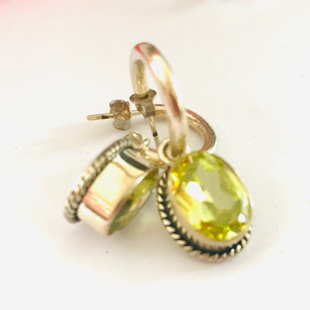 Luscious Peridot and Stirling Silver Earrings