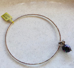 Silver Bangle with Enamel & Silver Charms by Gabby Malpas