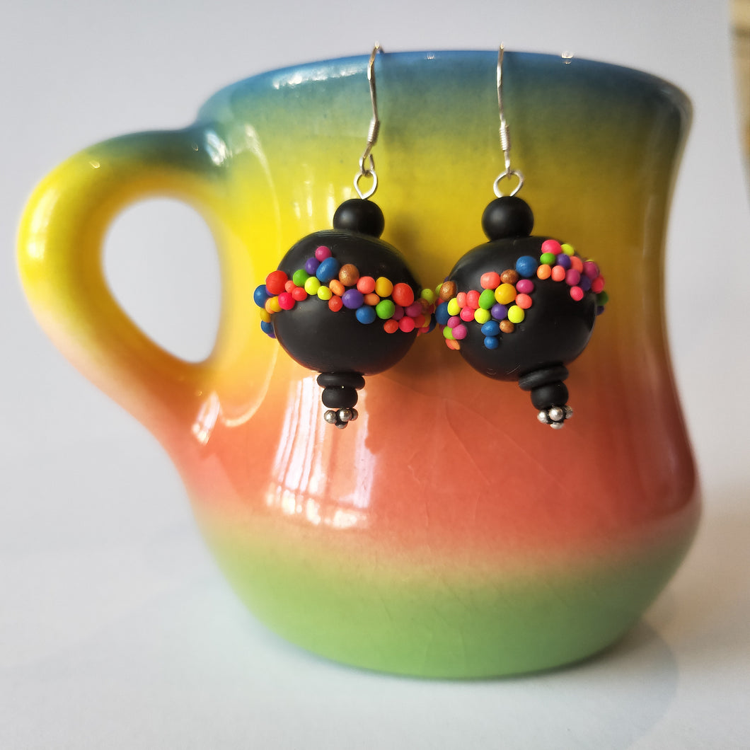 Quirky 'Freckles' Earrings with Beads by Sera Fabulous Frippery