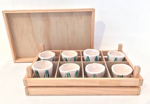 Shot Glass Set in Box by Susan Hulland