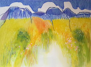 'Alpilles in Pastel 2' by Jeanette Prout