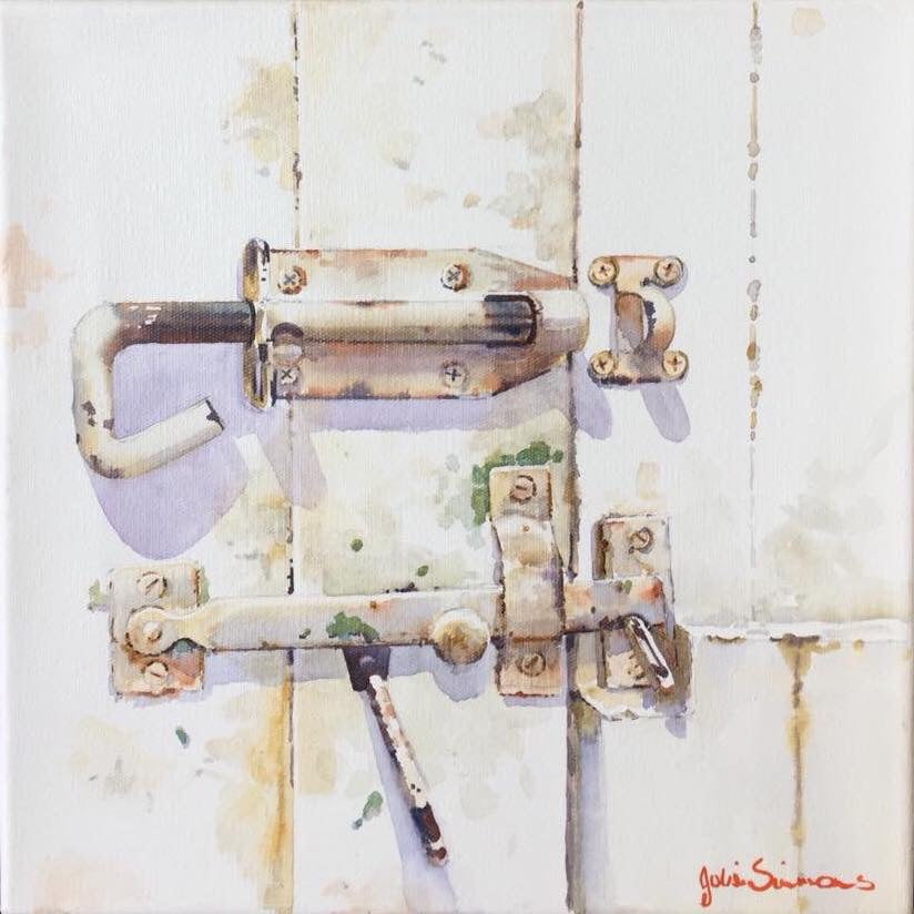 'Latched' Limited Edition Print of Water Colour By Julie Simmons.