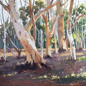 'Scribbly Gums' by Julie Simmons. SOLD