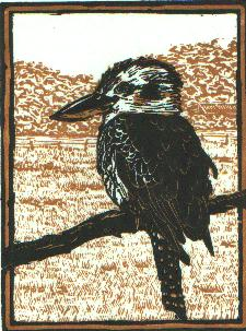 'Kookaburra' - Traditional Artists Hand Pulled Print by Mellissa Read-Devine