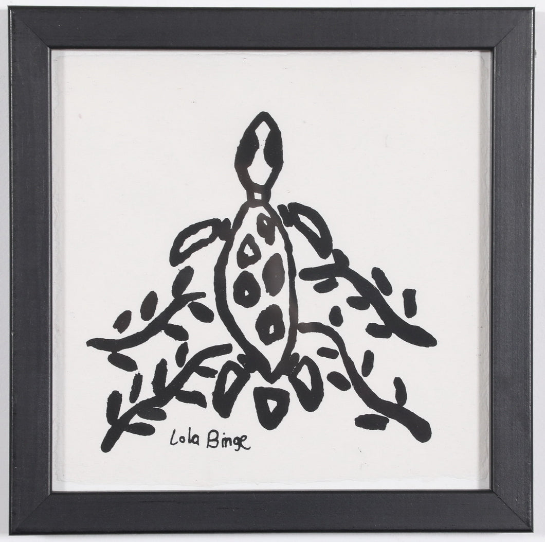 'Turtle Swimming' -Print by Lola Binge