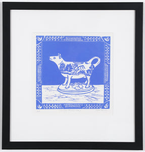 'Willow Pattern Cow' - Traditional Artist's Hand Pulled Print by Mellissa Read-Devine