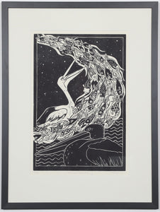 'Pelican Dreaming' - Traditional Artist's Hand Pulled Print by Mellissa Read-Devine