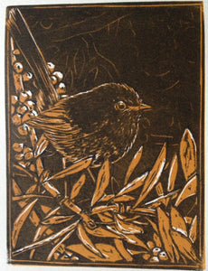'Mrs Wren' - Traditional Artist's Hand Pulled Print by Mellissa Read-Devine