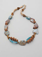 Load image into Gallery viewer, Peruvian Opal & Jasper Gemstone Necklace