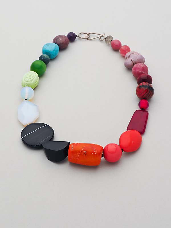 Eclectic and Colourful Gem Necklace by Christine Smalley