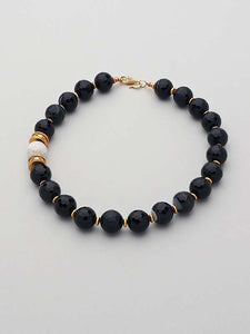 Gold and Agate Necklace