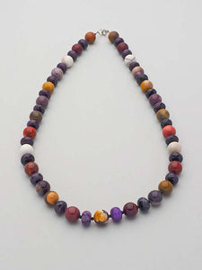 Long Semi Precious Gemstone Necklace
