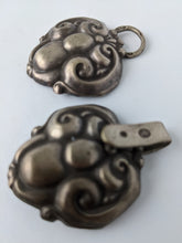 Load image into Gallery viewer, Antique Hand Beaten Sterling Silver Shoe Buckle