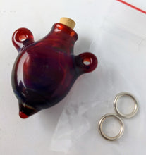 Load image into Gallery viewer, Handmade Tiny Hollow Bottle Glass Pendant by Fiona Horne