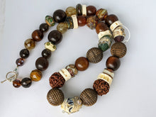 Load image into Gallery viewer, Unique Necklace With Mix of Unusual Beads