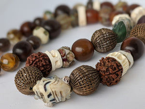Unique Necklace With Mix of Unusual Beads