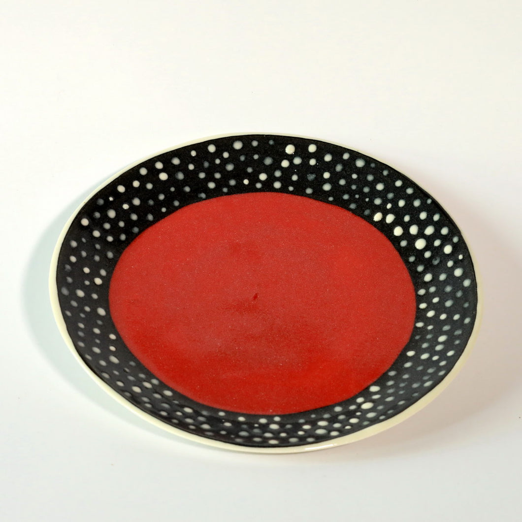 Red Dotty Plate