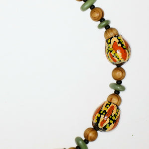 Necklace with Hand-Painted Gumnut Beads By the Women of Camel Camp