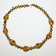 Load image into Gallery viewer, Necklace with Hand-Painted Gumnut Beads By the Women of Camel Camp