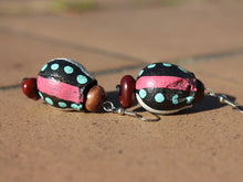 Load image into Gallery viewer, Handmade Earrings using Unique Painted Gumnuts by the Women of Camel Camp