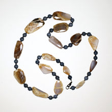 Load image into Gallery viewer, Luscious Peruvian Opal and Lapis Lazuli Gemstone Necklace