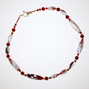 Carnelian and Fire Agate Necklace