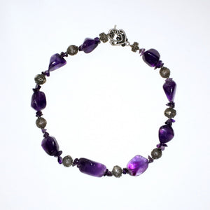 Vintage Purple Amethyst and Sterling Silver Necklace