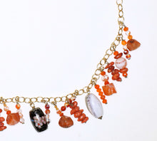 Load image into Gallery viewer, Rare Cloisonné, Fire Agate, Carnelian and Coral Necklace