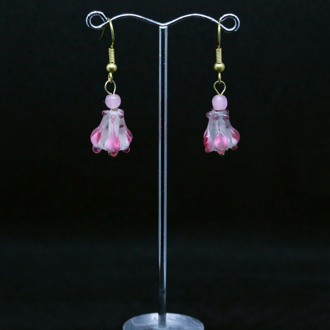 Lampwork Tulip Earrings by Australian Glass Artist