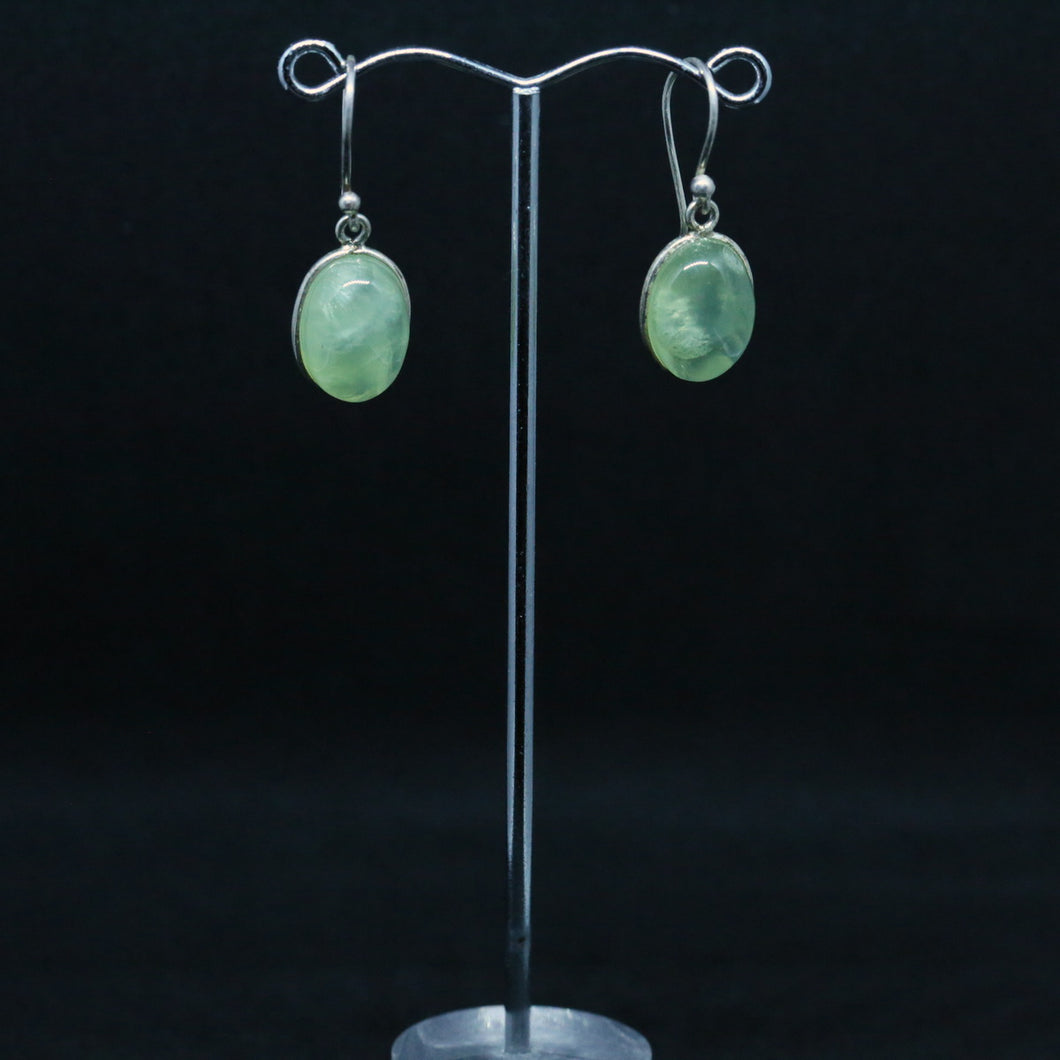 Pnenite and Silver Earrings
