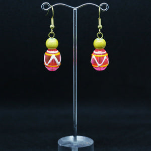 Lampwork and Mysteriex Earrings by Christine Smalley