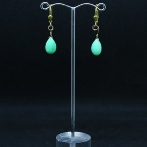 Elegant Chrysoprase Briolette Earrings