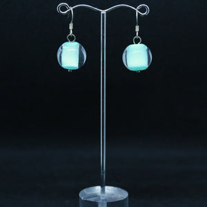 Aqua Sommerso Glass Earrings