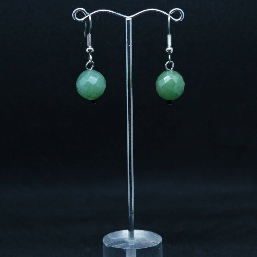 Faceted Jade Earrings