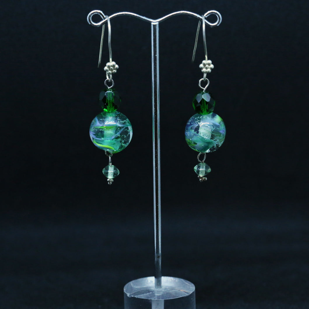Exquisite Handmade Glass Earrings