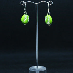 Lime Green Egyptian Cat Polymer Clay Earrings by Sera from Fabulous Frippery