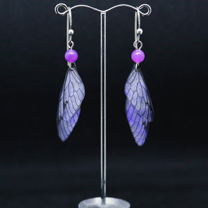 Unique Earrings with Translucent Wings by Hilda Procak