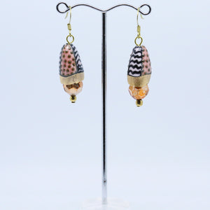 Exquisite Earrings with Hand-Painted Porcelain Beads by Melissa Gabelle
