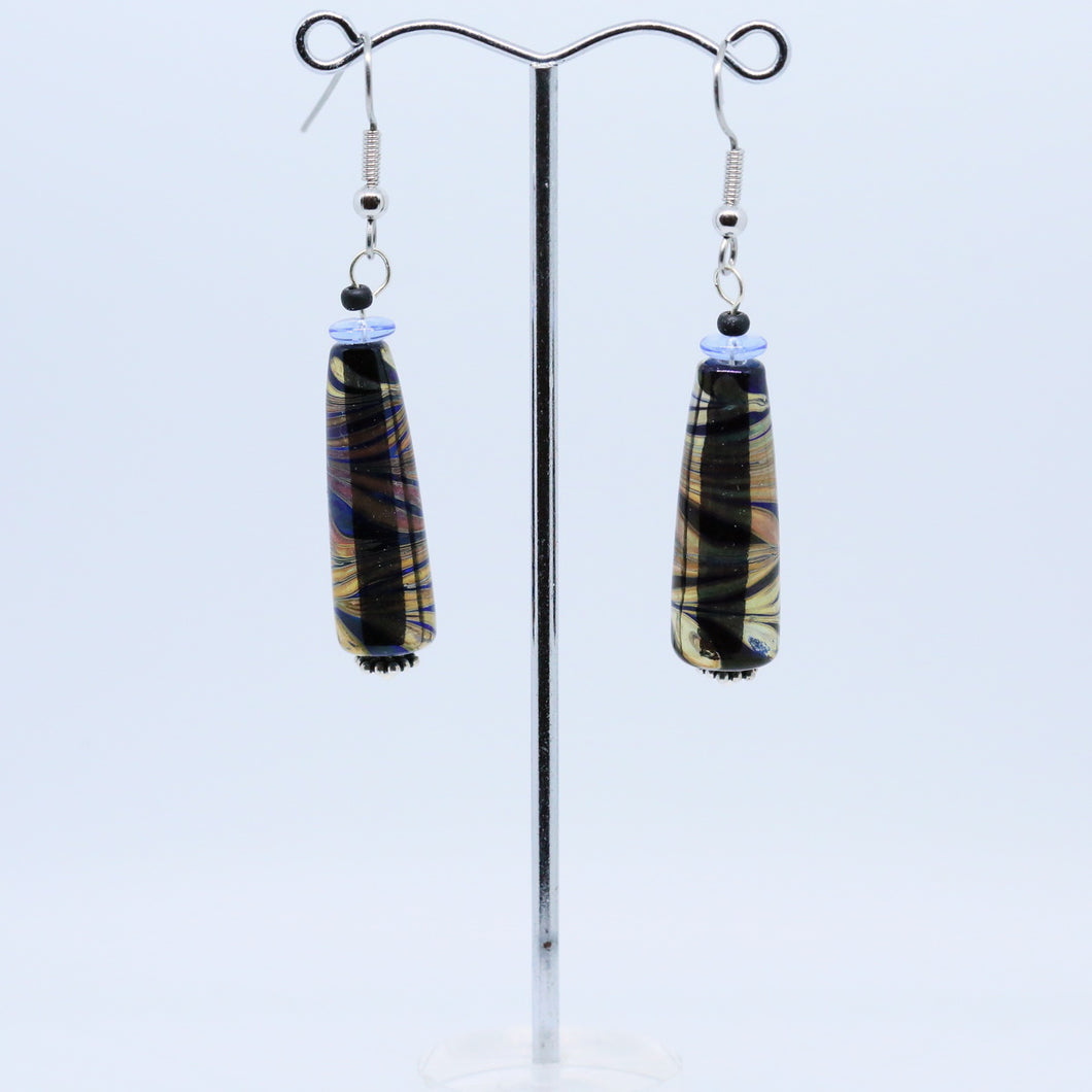 Exquisite Earrings with Glass Beads by Pauline Delaney