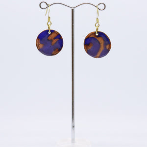 Small Enamelled Disc Earrings By Australian Jeweller Jan Rietdyk